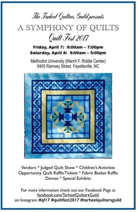 2017 Quilt Show - Tarheelquilters : north carolina quilt shows - Adamdwight.com